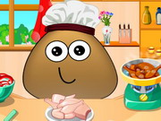 Play Pou Cooking Lesson game