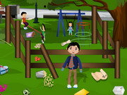 Play Childrens Park Cleaning game