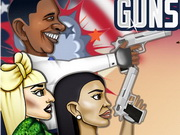 Play Celebrity Gunslingers game