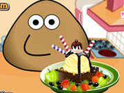 Play Pou Ice Cream Decoration game