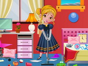 Play Frozen Anna Bedroom Cleaning game