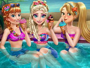 Play Princess Pool Party game