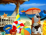 Play Frozen Olaf Beach Resort game