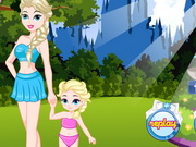 Play Elsa And Daughter Matching Dress game