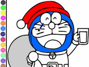 Doraemon Coloring Papa Noel Game