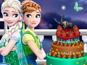Frozen And Monster High Cake Decor Game