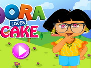 Play Dora Loves Cake Makeup game