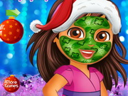 Play Doras Xmas Makeover game