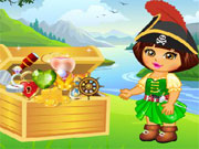 Play Dora Pirate Treasure Finding game