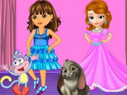 Play Dora And Sofia Beauty Contest game