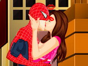 Play Spiderman Kissing game