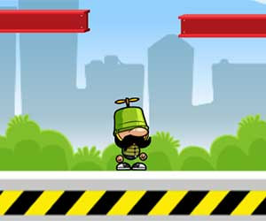 Play Bucket Copter 2D game